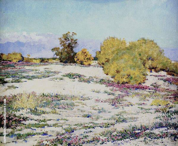 Monterey Desert Verbena Palm Springs 1926 Painting By Alson Skinner Clark