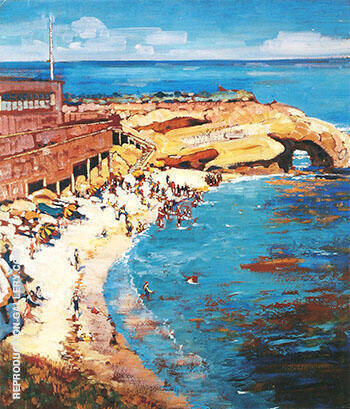 La Jolla Cave 1928 By Alson Skinner Clark - Oil Paintings & Art Reproductions - Reproduction Gallery