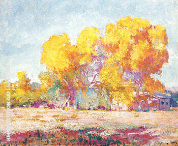 Ranch in Sycamores 1928 By Alson Skinner Clark - Oil Paintings & Art Reproductions - Reproduction Gallery