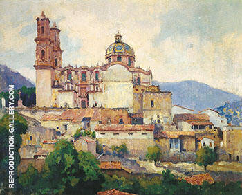 Taxco c 1931 By Alson Skinner Clark - Oil Paintings & Art Reproductions - Reproduction Gallery