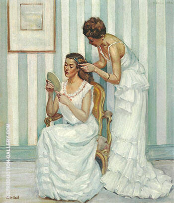 Reproduction of In the Dressing Room 1947 by Alson Skinner Clark | Oil Painting Replica On CanvasReproduction Gallery