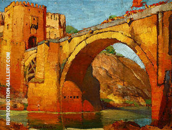 Bridge Toledo Spain By Alson Skinner Clark - Oil Paintings & Art Reproductions - Reproduction Gallery