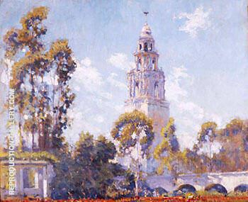 Reproduction of California Tower from Alcazar Garden by Alson Skinner Clark | Oil Painting Replica On CanvasReproduction Gallery