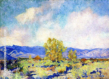 Desert Landscape 1924 By Alson Skinner Clark - Oil Paintings & Art Reproductions - Reproduction Gallery