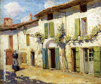 Facade Laroche Foucault France 1914 By Alson Skinner Clark Replica Paintings on Canvas - Reproduction Gallery