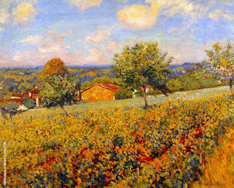 Hillside Giverny 1911 By Alson Skinner Clark Replica Paintings on Canvas - Reproduction Gallery