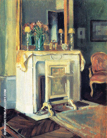 Interior of our Apartment 6 rue Victor Considerant 1905 By Alson Skinner Clark - Oil Paintings & Art Reproductions - Reproduction Gallery