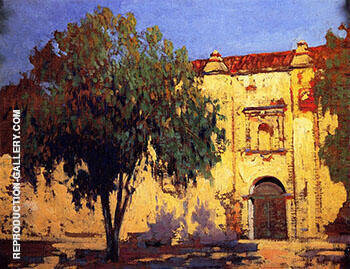 Reproduction of Mission San Gabriel by Alson Skinner Clark | Oil Painting Replica On CanvasReproduction Gallery