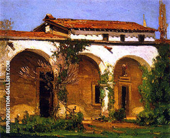 Mission San Juan Capistrano 1918 By Alson Skinner Clark - Oil Paintings & Art Reproductions - Reproduction Gallery