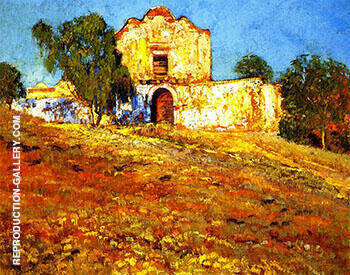 San Diego Mission 1924 By Alson Skinner Clark - Oil Paintings & Art Reproductions - Reproduction Gallery