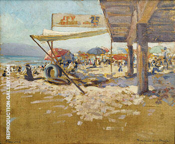 Santa Monica Summer By Alson Skinner Clark - Oil Paintings & Art Reproductions - Reproduction Gallery