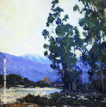 Trees before the Arrayo 1921 By Alson Skinner Clark - Oil Paintings & Art Reproductions - Reproduction Gallery