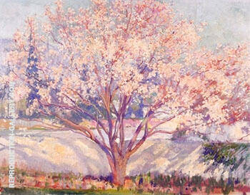 Almond Tree in Bloom By Alson Skinner Clark - Oil Paintings & Art Reproductions - Reproduction Gallery
