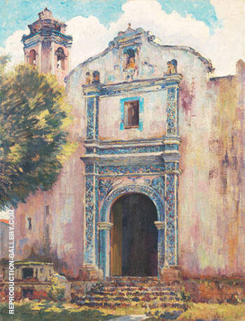 Church Doorway By Alson Skinner Clark - Oil Paintings & Art Reproductions - Reproduction Gallery
