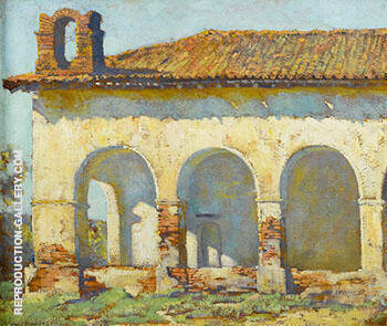 Mission San Fernando 1919 By Alson Skinner Clark Replica Paintings on Canvas - Reproduction Gallery