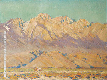 Eastern Sierra Landscape By Alson Skinner Clark - Oil Paintings & Art Reproductions - Reproduction Gallery