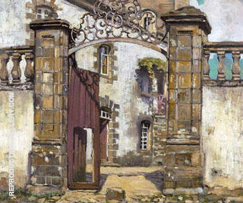 Reproduction of Gateway Brittany 1901 by Alson Skinner Clark | Oil Painting Replica On CanvasReproduction Gallery