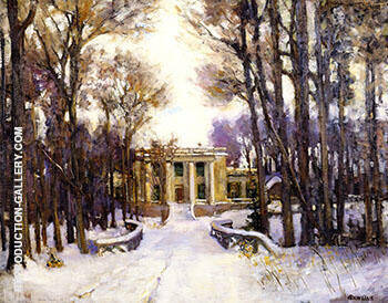 Mansion of Leroy de Chaumont near Watertown New York 1902 By Alson Skinner Clark - Oil Paintings & Art Reproductions - Reproduction Gallery