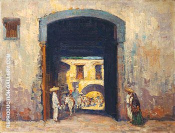 Mission Entrance By Alson Skinner Clark - Oil Paintings & Art Reproductions - Reproduction Gallery