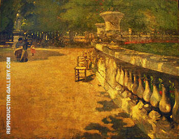 Park in Paris By Alson Skinner Clark - Oil Paintings & Art Reproductions - Reproduction Gallery