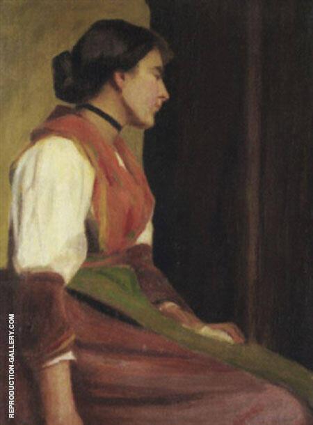 Portrait of Mrs Frieseke Painting By Alson Skinner Clark