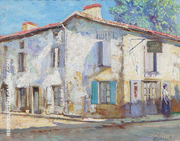 Street in La Roche France 1914 By Alson Skinner Clark