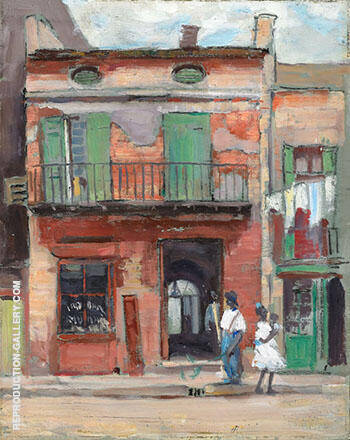 Street Scene Panama By Alson Skinner Clark - Oil Paintings & Art Reproductions - Reproduction Gallery