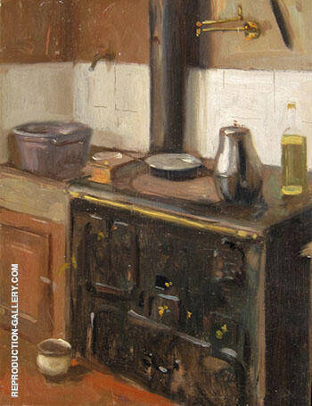 The Artist's Kitchen Paris 1903 By Alson Skinner Clark Replica Paintings on Canvas - Reproduction Gallery