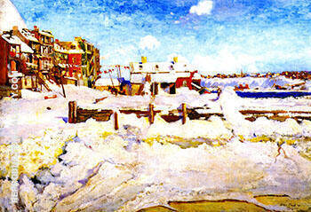 Winter in Quebec 1907 By Alson Skinner Clark Replica Paintings on Canvas - Reproduction Gallery