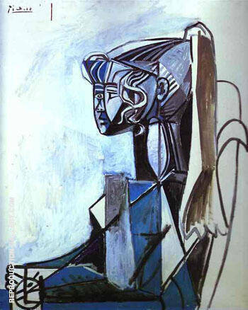 Reproduction of Portrait of Sylvette 1954 by Pablo Picasso | Oil Painting Replica On CanvasReproduction Gallery