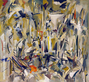 Untitled 1951 By Joan Mitchell Replica Paintings on Canvas - Reproduction Gallery