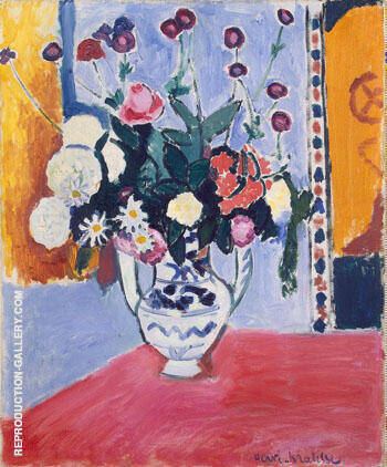 Bouquet 1907 By Henri Matisse - Oil Paintings & Art Reproductions - Reproduction Gallery