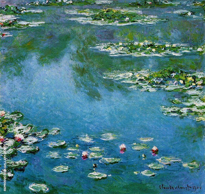 Water Lilies 1906 683 Painting By Claude Monet - Reproduction Gallery