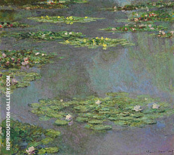 Reproduction of Nympheas 1905 L by Claude Monet | Oil Painting Replica On CanvasReproduction Gallery