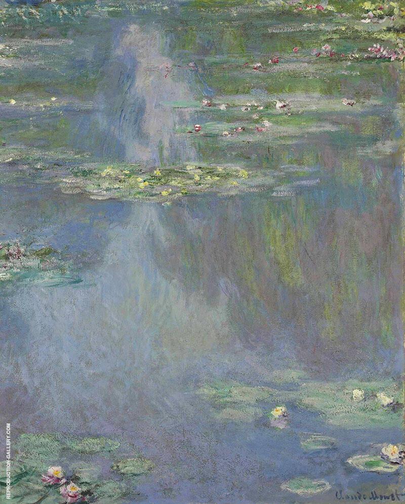 Nympheas 1905 3 By Claude Monet