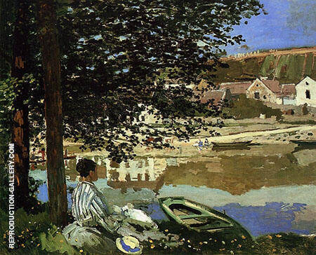 River Scene at Bennecourt 1868_110A By Claude Monet