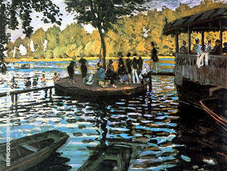 La Grenouillere 1869_134A By Claude Monet - Oil Paintings & Art Reproductions - Reproduction Gallery