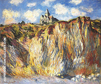 The Church at Varengevillr Morning Effect 1882_794 By Claude Monet Replica Paintings on Canvas - Reproduction Gallery