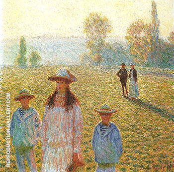 Landscape with Figures Giverny 1888_204 By Claude Monet - Oil Paintings & Art Reproductions - Reproduction Gallery