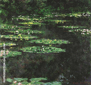 Water Lilies 1903-1904_664 By Claude Monet - Oil Paintings & Art Reproductions - Reproduction Gallery