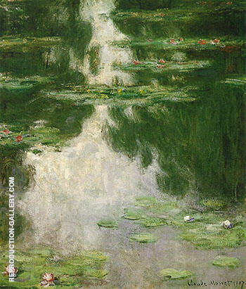 Water Lilies 1907_703 By Claude Monet - Oil Paintings & Art Reproductions - Reproduction Gallery