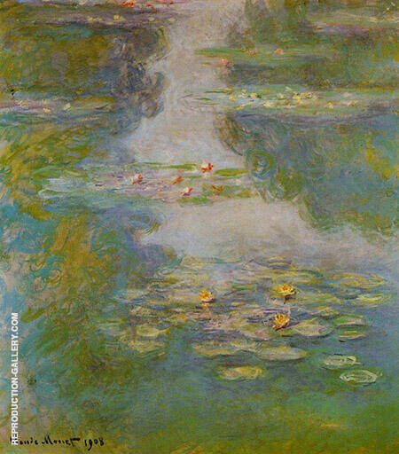 Water Lilies1908_725 By Claude Monet Replica Paintings on Canvas - Reproduction Gallery