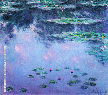 Water Lilies 1907_691 By Claude Monet Replica Paintings on Canvas - Reproduction Gallery