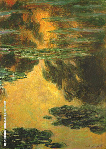 Water Lilies 1907_714 By Claude Monet - Oil Paintings & Art Reproductions - Reproduction Gallery