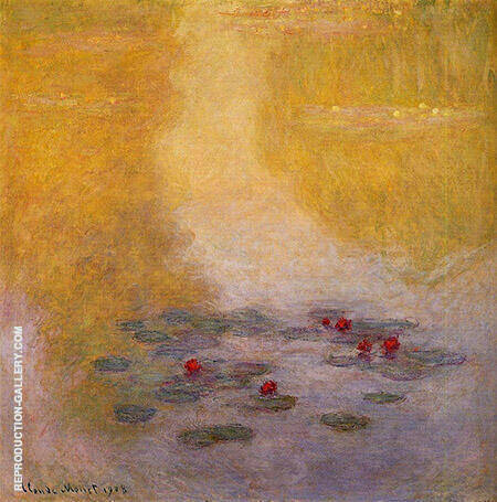 Water Lilies 1908_730 By Claude Monet - Oil Paintings & Art Reproductions - Reproduction Gallery