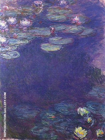 Water Lilies 1915_789 By Claude Monet - Oil Paintings & Art Reproductions - Reproduction Gallery