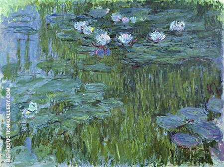 Water Lilies 1916_791 By Claude Monet - Oil Paintings & Art Reproductions - Reproduction Gallery