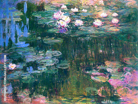 Water Lilies 1916_792 By Claude Monet Replica Paintings on Canvas - Reproduction Gallery