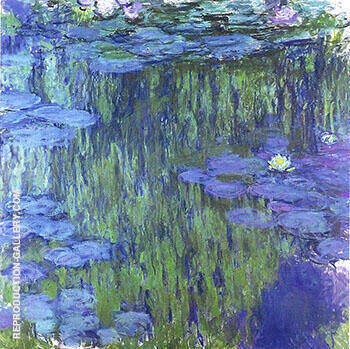 Water Lilies 1917_803 Painting By Claude Monet - Reproduction Gallery