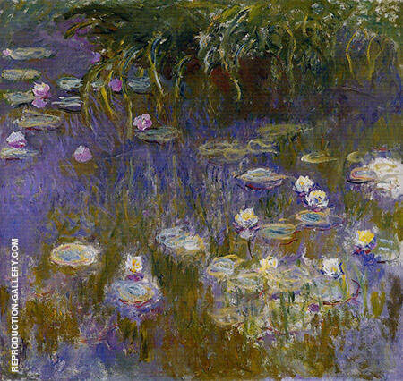 Reproduction of Yellow and Lilac Water Lilies 1917_804 by Claude Monet | Oil Painting Replica On CanvasReproduction Gallery